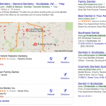 Google Local 3-pack for dentists