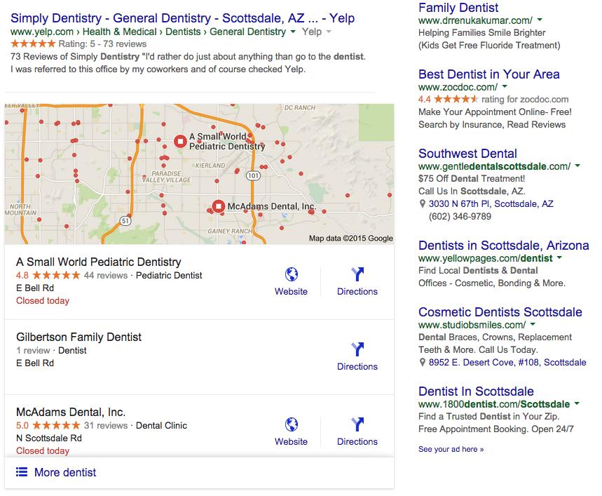 Dental SEO Alert: Google Local 7-Pack Goes To 3-Pack