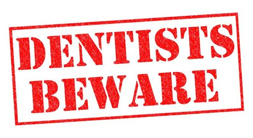 dental website design warning