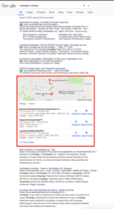 Get Ranked For Your Invisalign In The Maps Section of Google Results Page