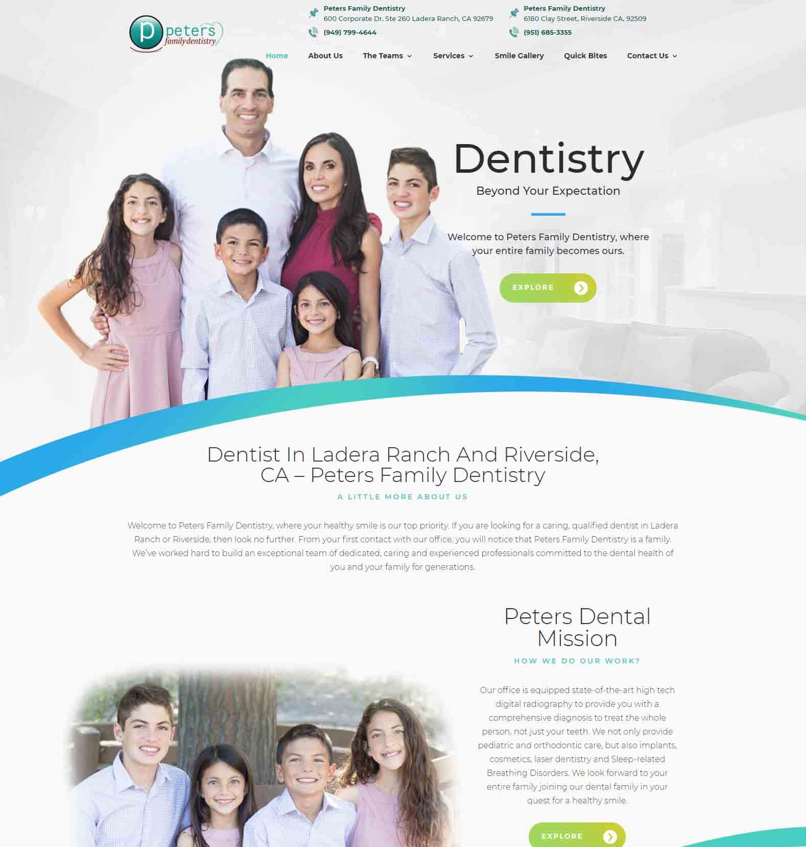New Peters Family Dentistry Website