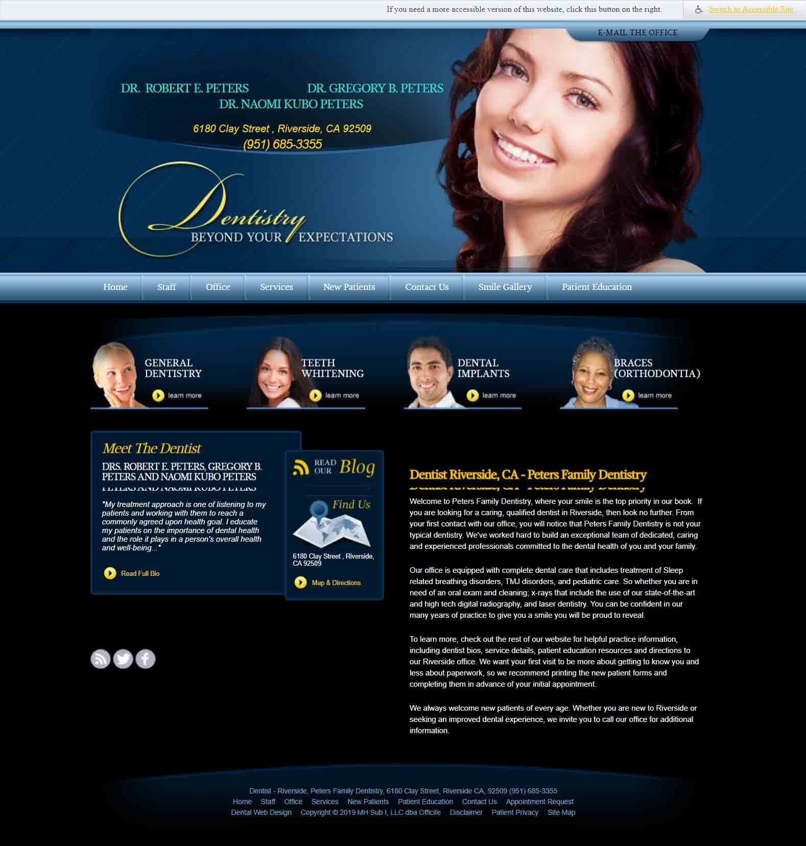 Old Peters Family Dentistry Website
